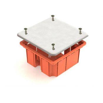 Коробка распр. скр.пр. 92х92х45 с крыш.(пласт. зажимы) IP20