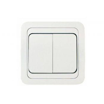 Выключатель 2-кл. СП Валери 10А IP20 бел. UNIVersal