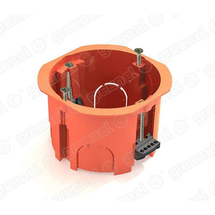 Коробка уст. скр.пр. 65х45 г/к (пласт. лапки, с саморез.)
