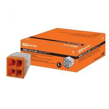 Строительно-монтажная клемма КБМ-2273-244 (2,5мм2) с пастой TDM