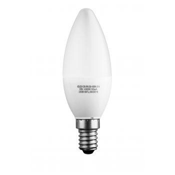 Лампа светодиодная формы свеча матовая 5Вт Е14 220В 42LED