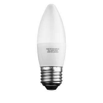 Лампа светодиодная формы свеча матовая 7Вт Е27 220В 42LED