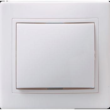 Выключатель 1-клавишный 10А КВАРТА белый IEK
