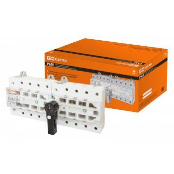 Рубильник модульный с видимым разрывом, реверсивный РМВ-100 4П 100A TDM