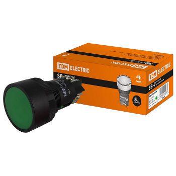 Кнопка SВ-7 Пуск зеленая 1з d22мм/230В TDM