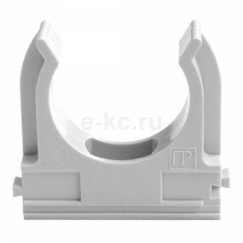 Держатель 20 мм ПВХ серый для труб