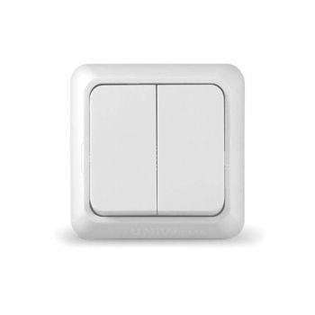 Выключатель 2-кл. ОП Олимп 10А IP20 бел. UNIVersal