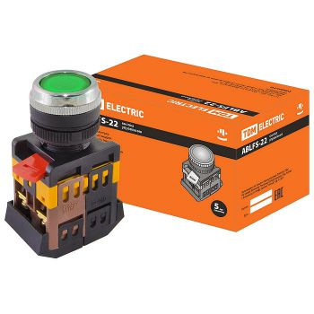 Кнопка ABLFS-22 зеленый d22мм
