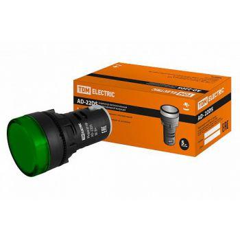Лампа AD-22DS(LED)матрица d22мм зеленый 230В TDM