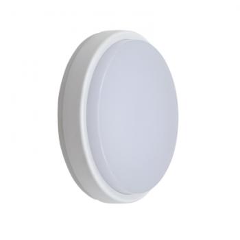 Светодиодный светильник герметичный, LBR 10W 4000K 160*41*160мм, пластик белый круг, IP65