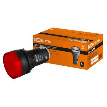Лампа AD-22DS(LED)матрица d22мм красный 24В TDM