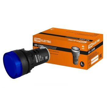 Лампа AD-22DS(LED)матрица d22мм синий 24В TDM